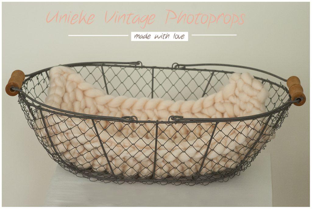 Vintage witte basket + dikke layer soft buttercream