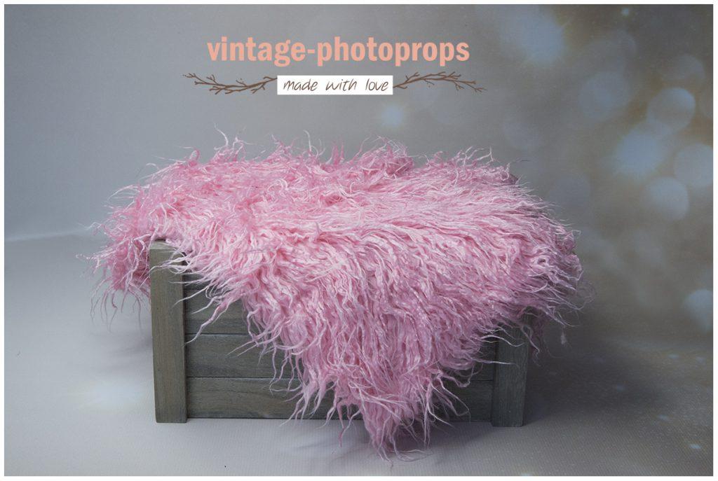 Faux fur coral rose 50 x 75 cm