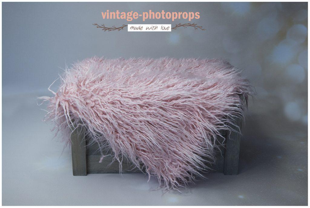 Zacht roze faux fur krullig 50 x 75 cm