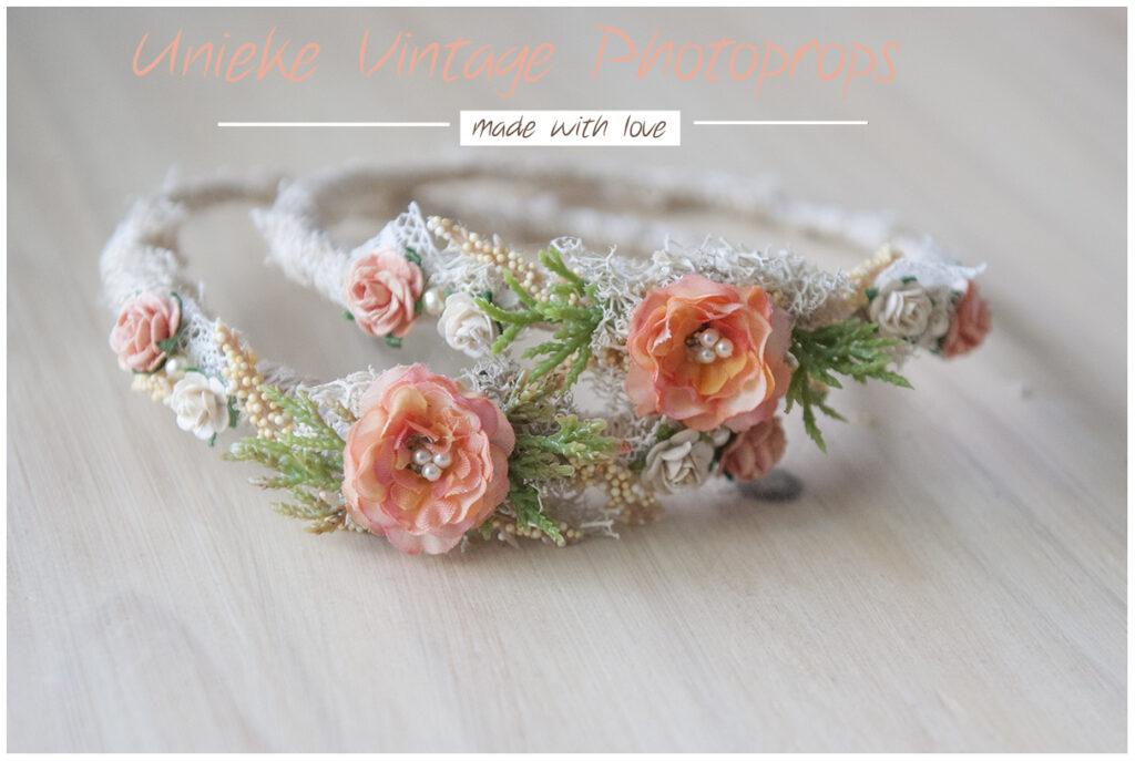 Newborn halo orange flowers