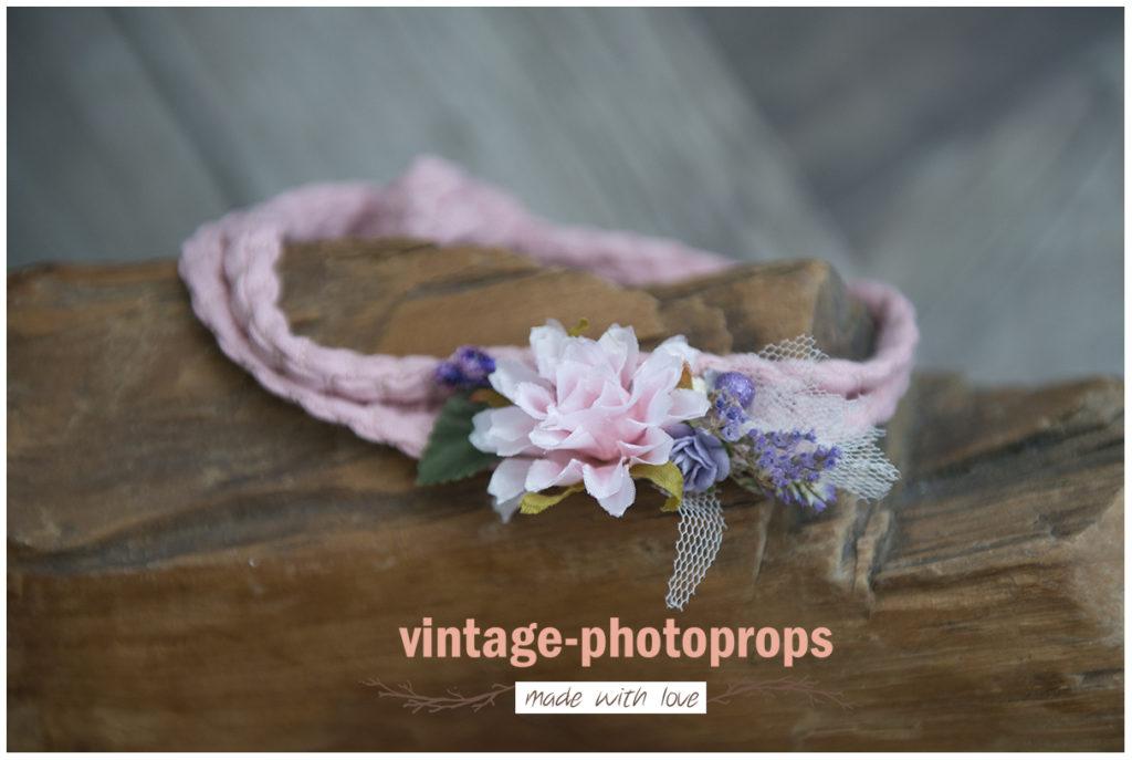 Tieback sitters robuust roze met paars