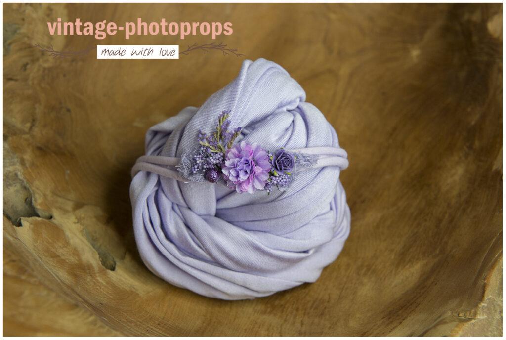 Newborn wrapset lilac flower