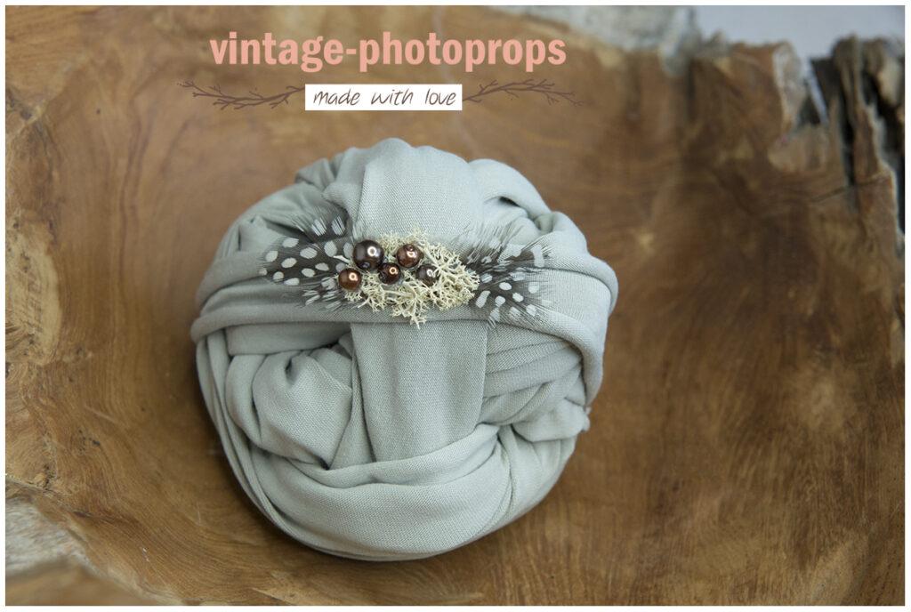 Newborn wrapset grey + tieback