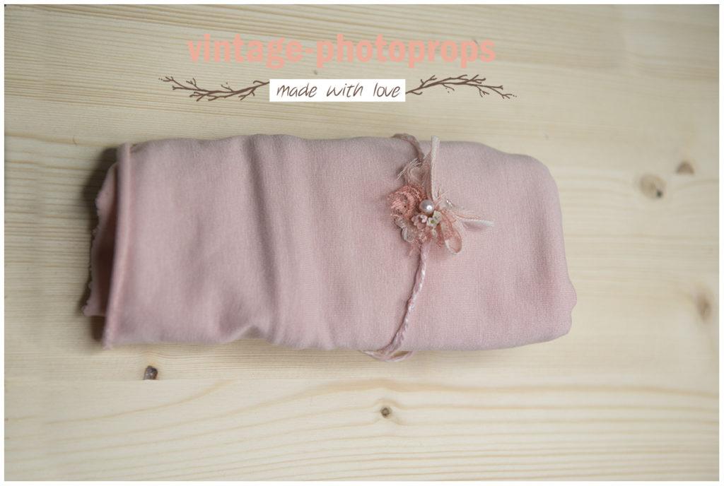 Wrapset soft pink + subtiele tieback op draad