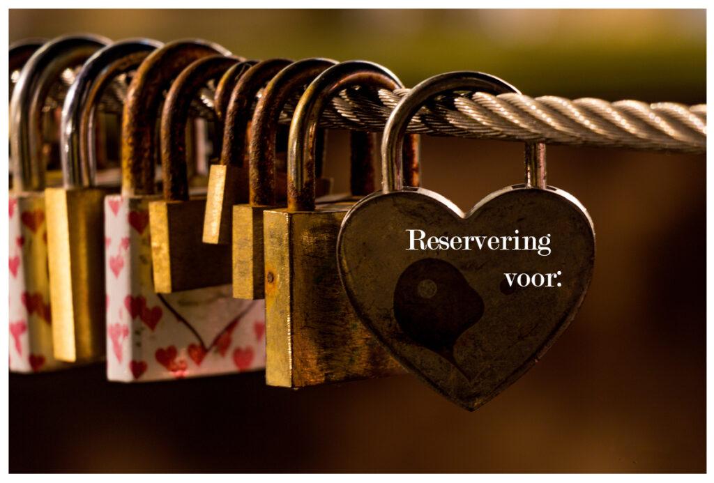 Reservering voor: