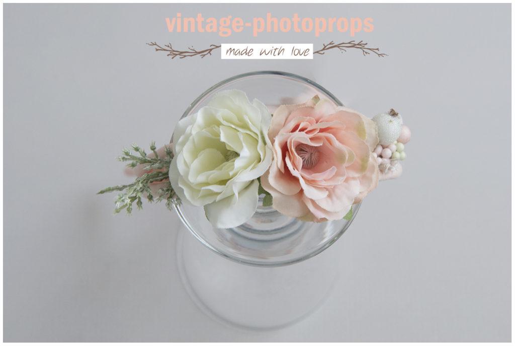 Tieback robuust flowers off white/zalm