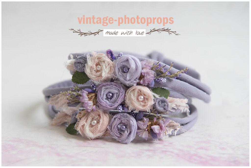 Tieback purple pink flowers