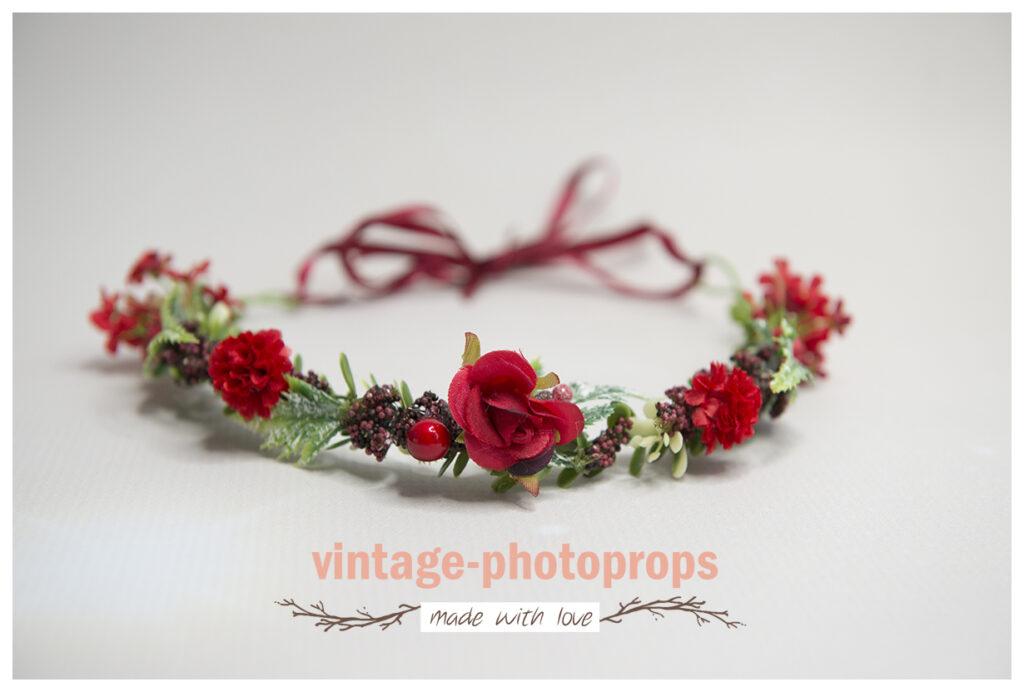 Prachtige kerst bloemenkrans roodtinten universeel.
