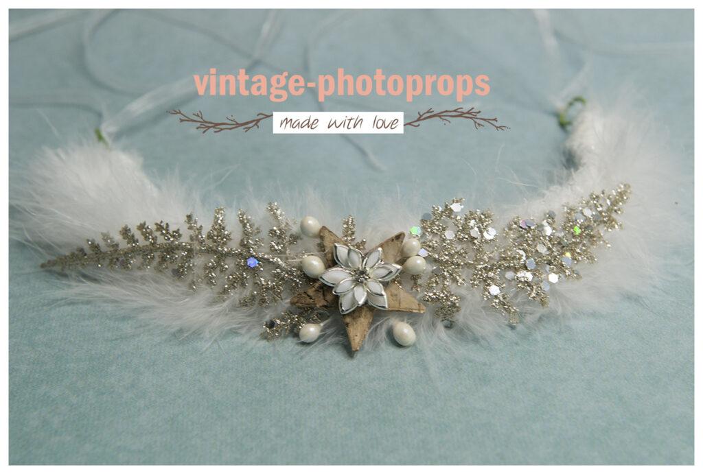 Newborn glitter-veren krans